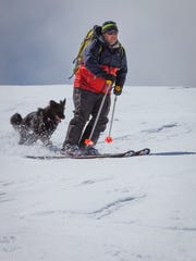 Photographer Jason Bean of Reno skis the Toiyabe Range