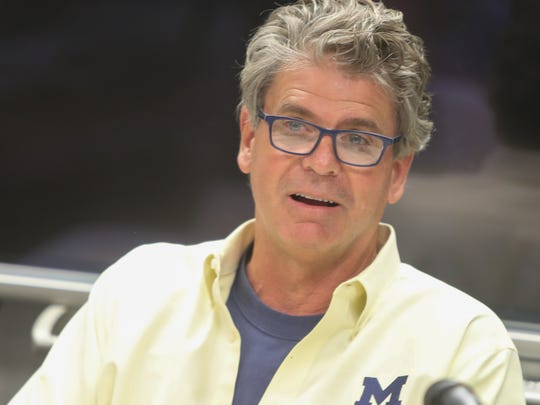 Michigan swimming coach Mike Bottom