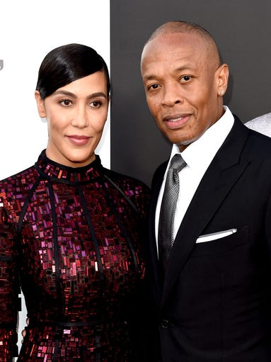 eminem dr dre and more stars attend defiant ones premiere