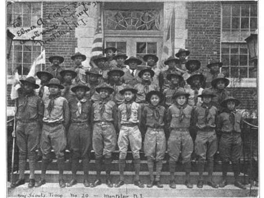 Troop 20, shown in 1931, was a top competitor at Montclair