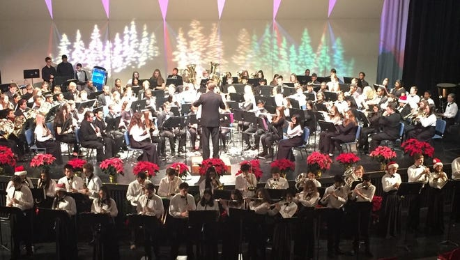 Farmington High School and East and Power middle school musicians take on 'Sleigh Ride.'