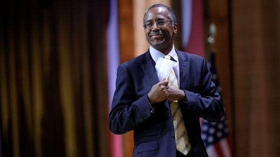 Ben Carson is scheduled to speak Saturday in Iowa.