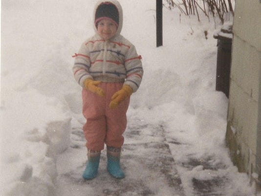 Even as a child I didn't like feeling the brisk winter wind. Thanks for the pic, Mom.
