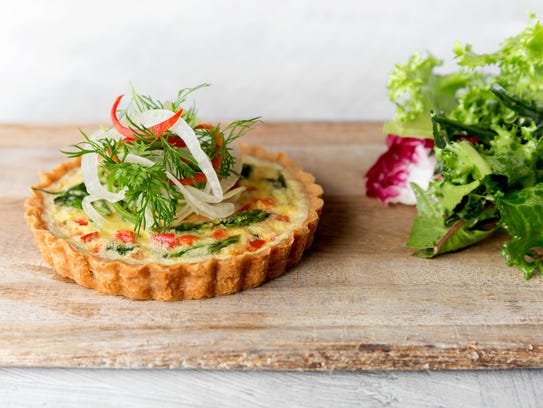 Quiche from Juniper Table, one of the restaurants coming