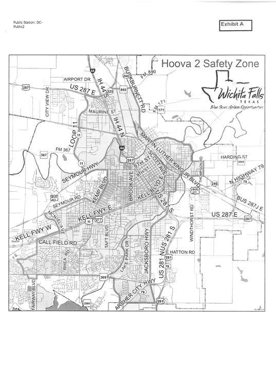 Hoova No. 2 Safety Zone map