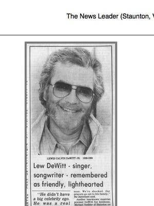 Lew DeWitt, original member of the Statler Brothers country music group. He died Aug. 15, 1990.