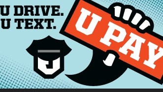 The logo for the New Jersey Distracted Driving campaign