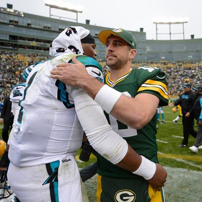 Green Bay Packers quarterback Aaron Rodgers visits