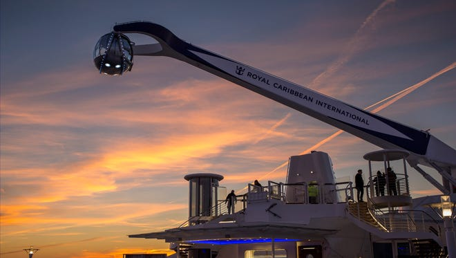 The North Star ride on Royal Caribbean's Quantum of the Seas.