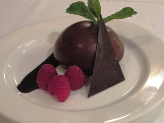 Chocolate cake dessert from Cucina in Kohler.