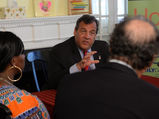 Gov. Chris Christie spoke in Paterson on Thursday about a program that has helped struggling families..