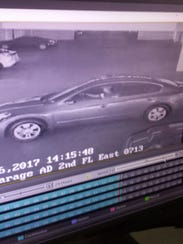 This security footage shows a car that was taken in