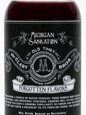 Michigan Saskatoon is from the Forgotten Flavors line of drinking vinegars at McClary Bros.