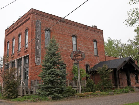 The Angry Minnow Brew Pub is housed in an 1889 brick