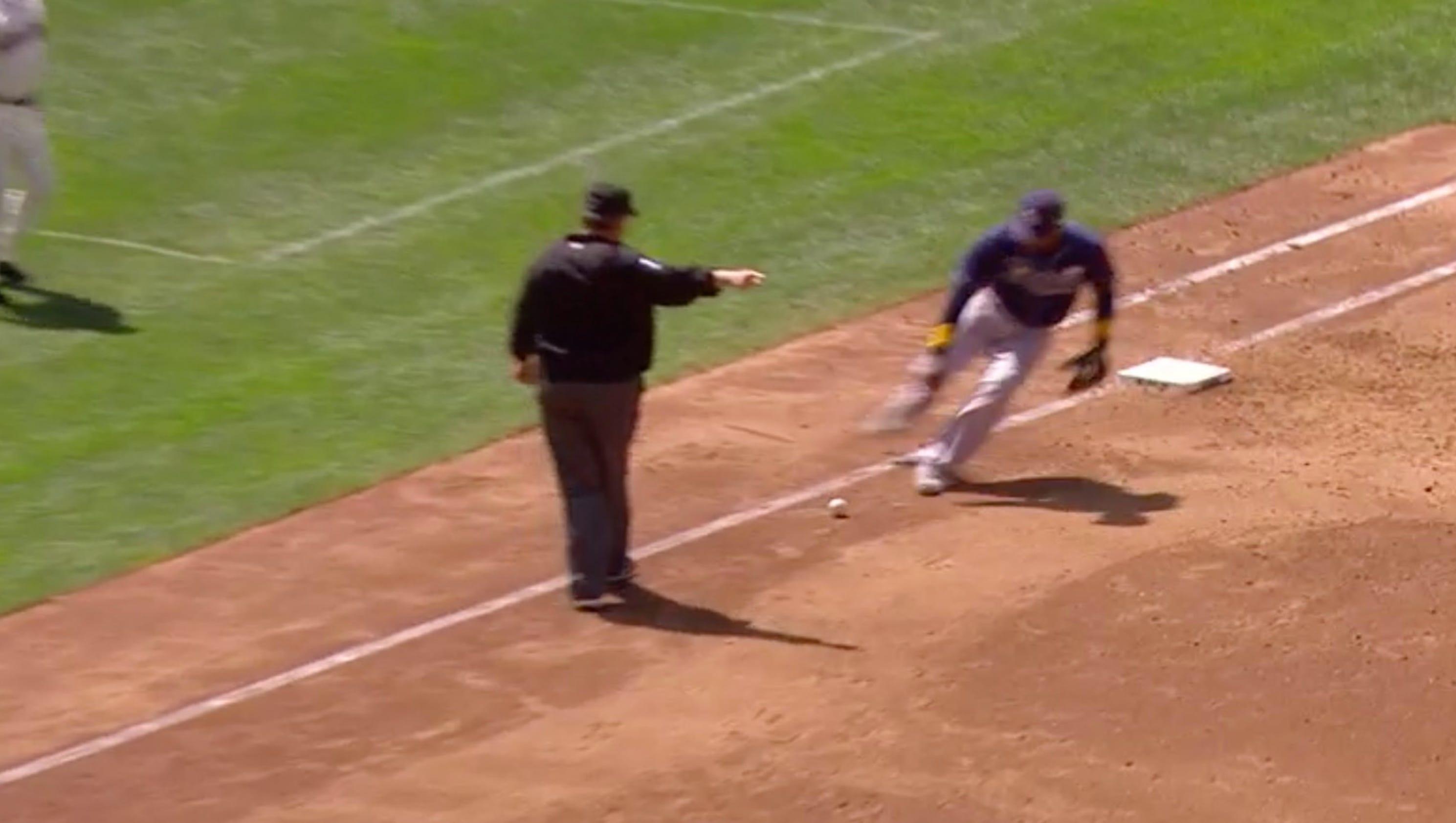 Softball C Screen : Robinson cano got unluckiest deflection off ump