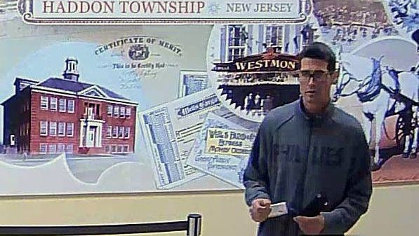Ryan J. McAteer turned himself in to police in connection with a Haddon Township bank robbery.