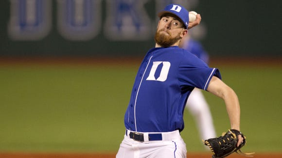 Asheville Christian Academy graduate Bailey Clark now pitches for the Duke baseball team.