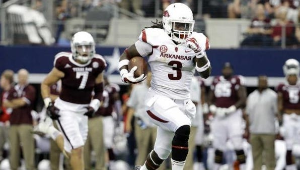 Alex Collins and Razorbacks are a very dangerous foe Saturday for Alabama.
