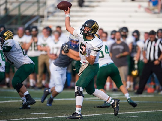Judd Erickson walked-on to the CSU football program after throwing for 3,255 yards and 33 touchdowns as a senior at Mountain Vista High School in Highlands Ranch.