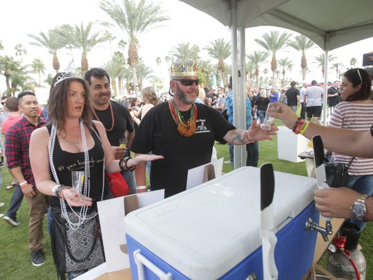 Art, music, wine and beer were all part of the  2016 Rhythm, Wine & Brews Experience on the Indio Polo Grounds on March 5, 2016.