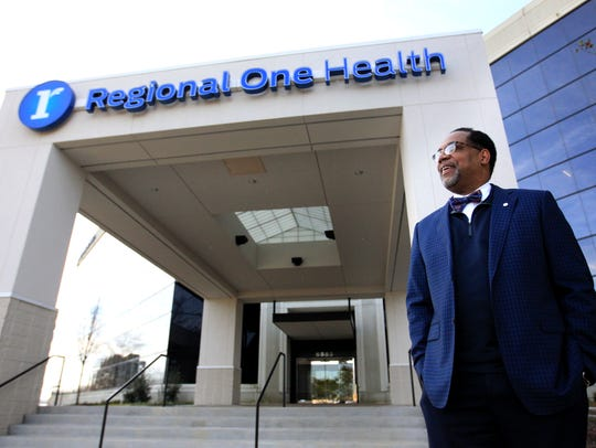 Dr. Reginald Coopwood, CEO of Regional One Health, is pictured at their new East Campus on Quince.