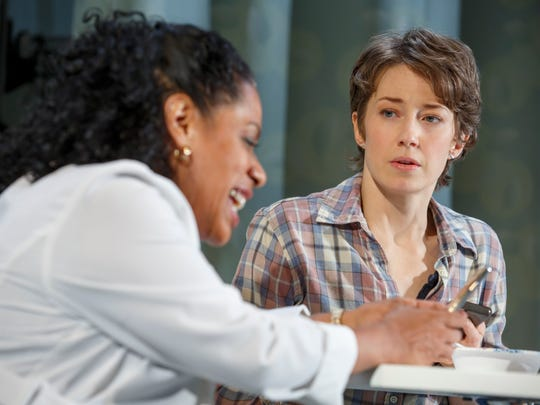 "Lisa-Colon-Zayas (left) and Carrie Coon in a scene from ""Mary Jane."""