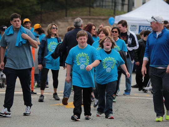 The start of the Walk during the Wyckoff YMCA Buddy