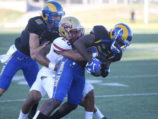 Angelo State University wide receiver Larry Johnson