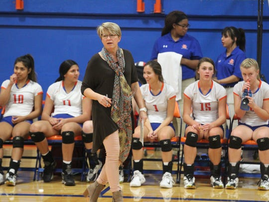 Central High School head volleyball coach Connie Bozarth