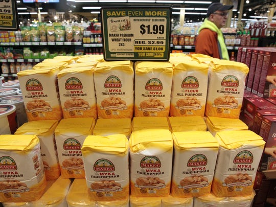 International products landed the aisles during the Gourmanoff luxury supermarket grand opening on Sunday.
