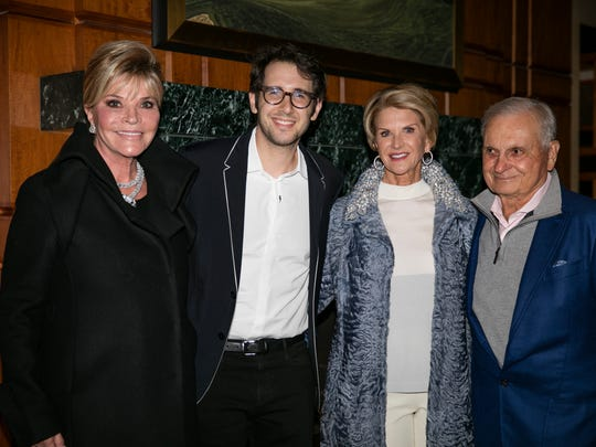 Event co-chairs Jan Salta and Suzy Leprino with Josh Groban and (L) Mike Leprino.