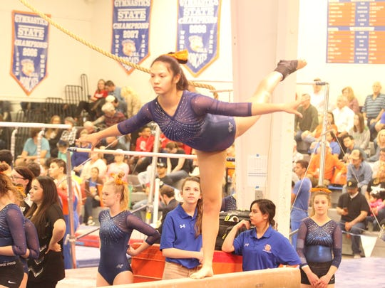 Central High School's Anna James earned a 9.35 on balance