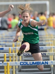 Margaretta's Kassidie Stimmel was fifth in the 100 hurdles at the regional meet as a junior.