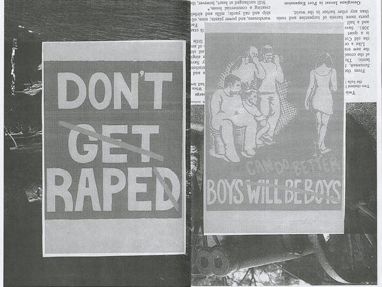 "Images from the 1990s zine ""No Means Yes? vol. 2"""