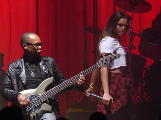 Stereo Jane bass guitarist Randy Martin and lead singer Sydney Schmier.