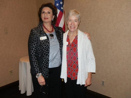 GFWC Viera Woman's Club President Judith Gendron and Sally Kramer, District 6 Volunteer of the Year.