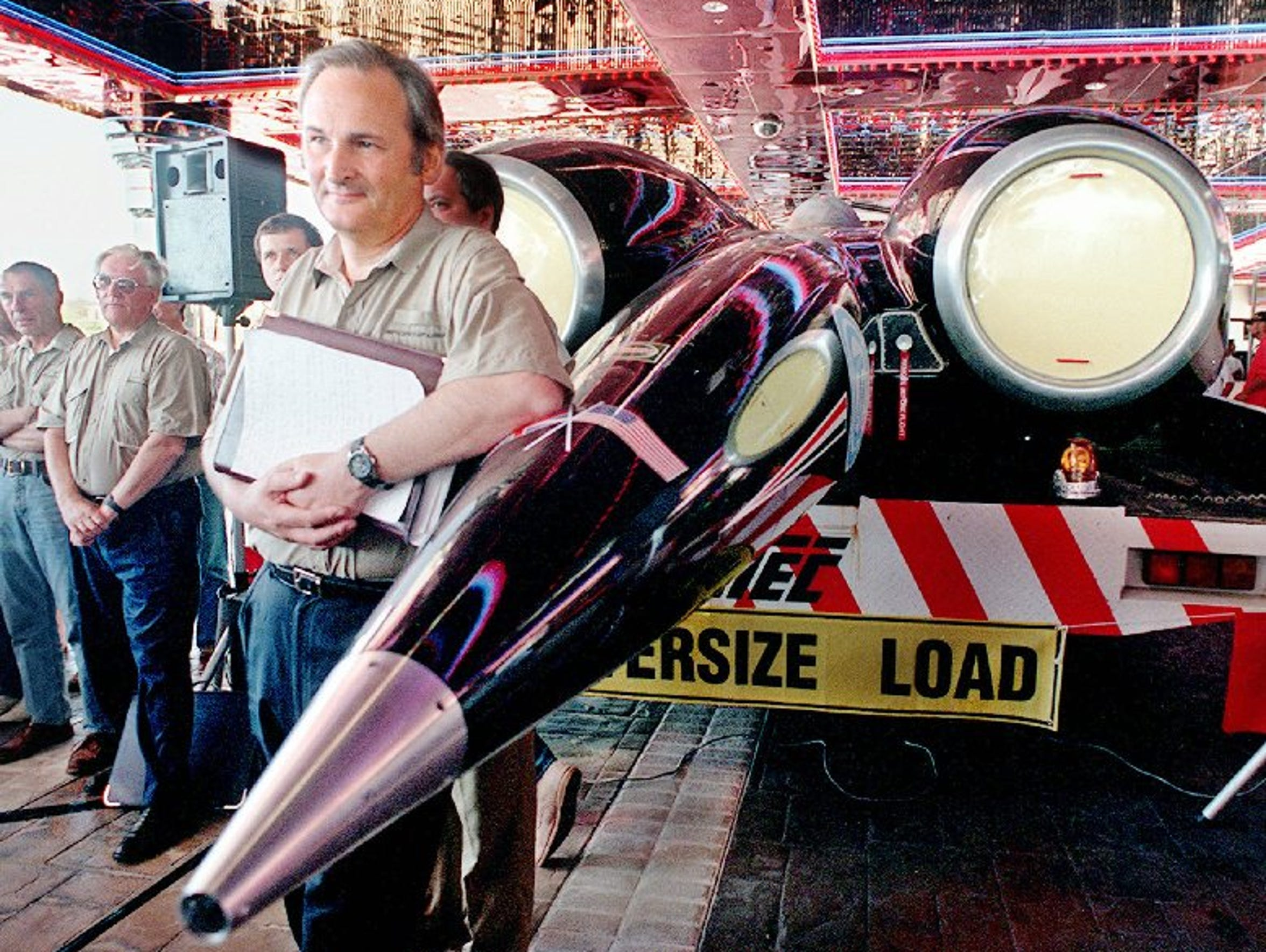 Richard Noble set the land speed record in Nevada.