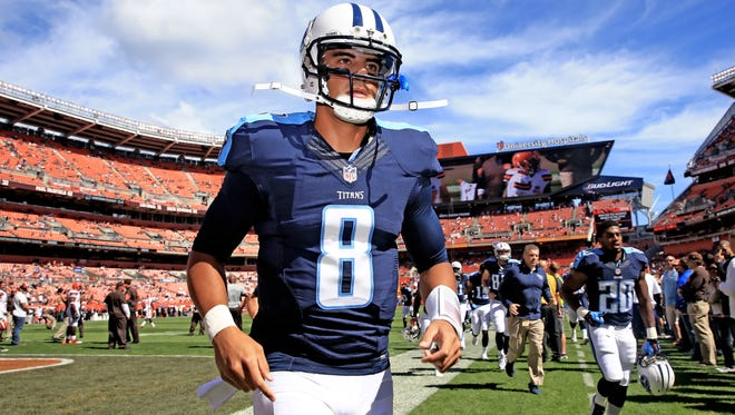 Quarterback Marcus Mariota and the Titans return from their bye week to face the Bills at Nissan Stadium on Sunday.