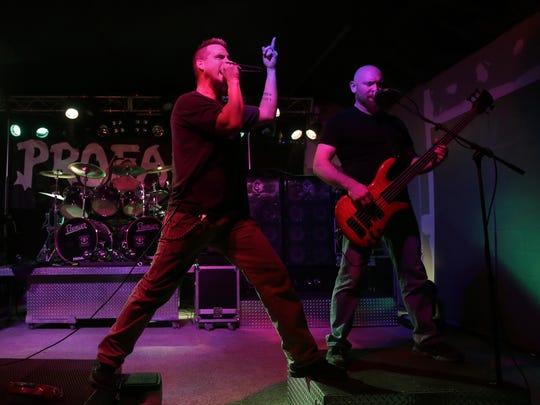 Profane singer Kurt VanderVelden (left) and bass player