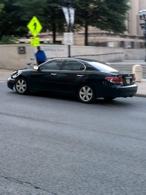 Nashville police say this Lexus sedan, either an ES 330 or ES 300, was involved in a hit-and-run crash that injured two women riding Bird scooters Sunday evening, May 13, 2018