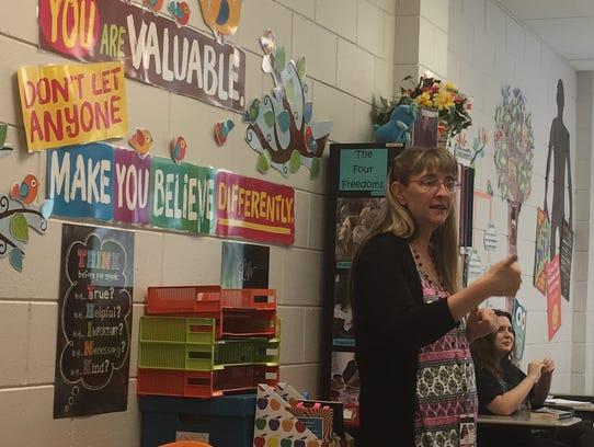 Clinton High School sociology teacher Sherri Ottis