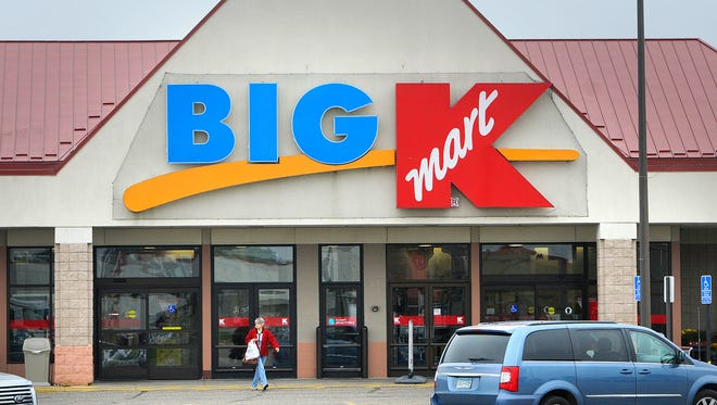 A customer leaves the Kmart store in Waite Park Thursday morning. Officials announced Thursday that the Waite Park store will close in December.