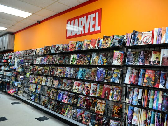 Inside of Phoenix Rising Games and Comics located in