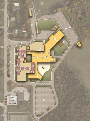 A conceptual design of proposed improvements to the Sevastopol Schools building.