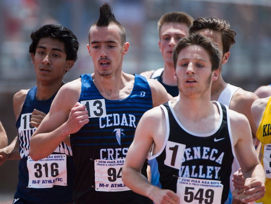 Cedar Crest's Jesse Cruise competes in the boys AAA
