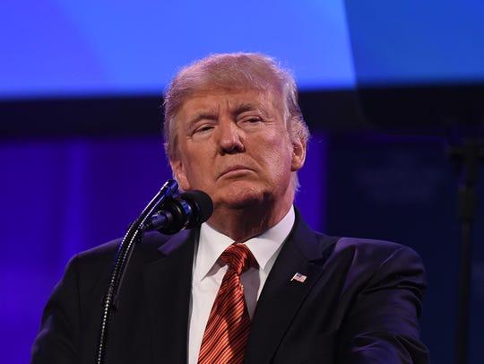President Trump speaks at the American Legion 99th