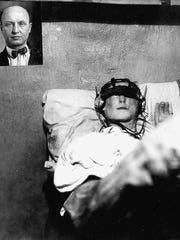 This dummy was discovered in cell 149 during the 6:00 p.m. head count on August 18, 1926 at Sing Sing. It bears a great likeness to escapee George Petersen.