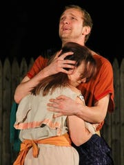 """Bryan Henry is Troilus and Natalie Brown in Cressida in Arden Shakespeare Gild's 2016 production """"Troilus and Cressida"""" running through June 25."""