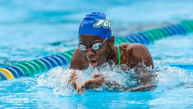 FGCU's Evita Leter will compete for her native Suriname in the 100-meter breaststroke in the Aug. 5-21 Olympics in Brazil.