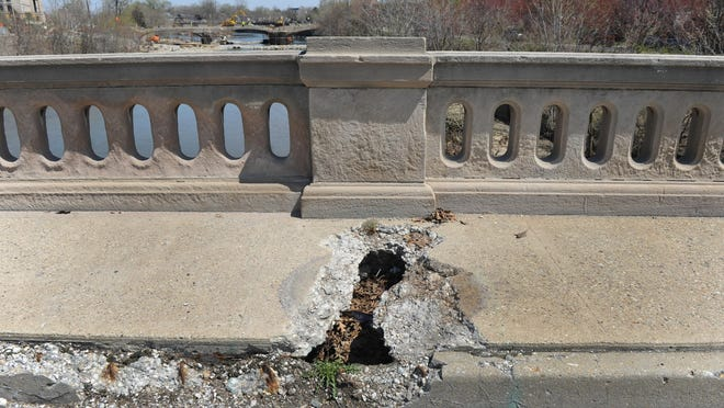 The state of the Capitol Avenue bridge over Fall Creek in April 2014 is not a rare sight across the U.S. Indiana, which spends less per capita than most states on highways and transit, is not collecting enough gas taxes to adequately maintain its roads and bridges.